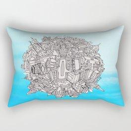 Small World Rectangular Pillow