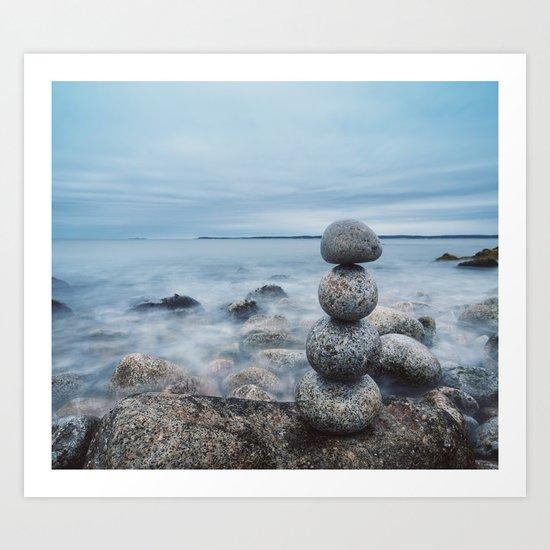 Balance of Stones Art Print