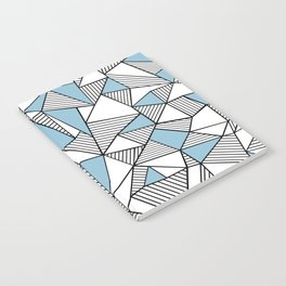 Abstraction Lines Sky Blue Notebook