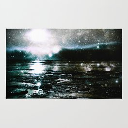 Mystic Waters Teal Slate Gray Rug