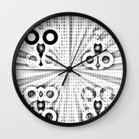 matrix Wall Clocks featuring Matrix  by Amanda Chapdelaine