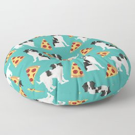 Japanese Chin cheery pizza slice junk food funny cute gifts for dog lover pet friendly pet protraits Floor Pillow