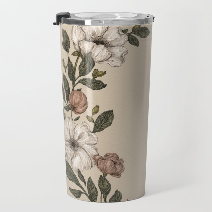 Floral Laurel Travel Mug