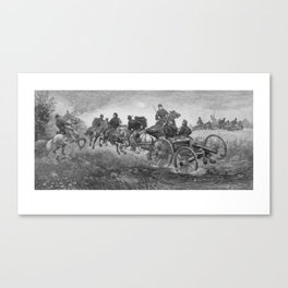 Going Into Battle -- Civil War Canvas Print