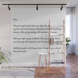 Anonymous Letter to Sam Wall Mural