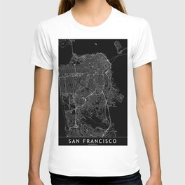 San Francisco Black Map T-shirt