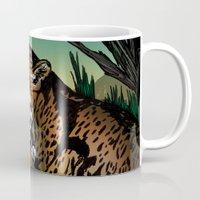 jaguar Mugs featuring Jaguar by Adamzworld