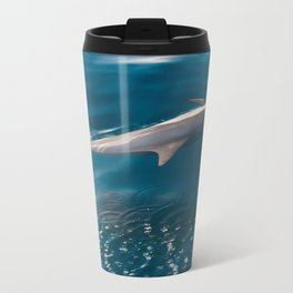 Gliding Dolphin Metal Travel Mug