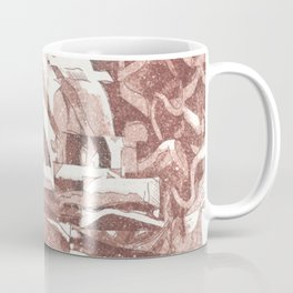 Fractured Flora Dusty Rose Coffee Mug