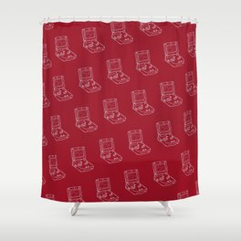 Game Boy Advance Pattern Red Shower Curtain