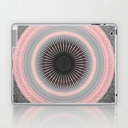 Metal Silver and Pink Mandala Abstract Laptop & iPad Skin