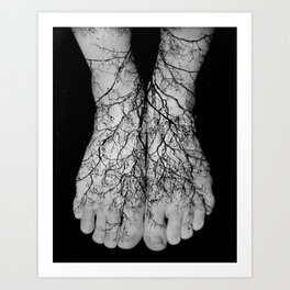 Our roots lie within our veins. Art Print