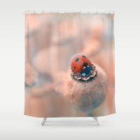 ladybug Shower Curtains featuring Ladybug. by Mary Berg