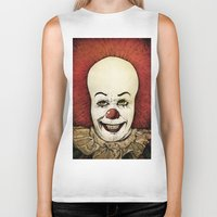 pennywise Biker Tanks featuring It - Pennywise (Color Version) by Sinpiggyhead