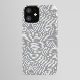 Waves in Charcoal iPhone Case