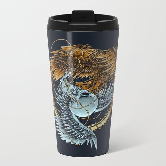 The Raven and the Owl Metal Travel Mug