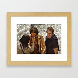 Halle Berry & Tom Tykwer on set of CLOUD ATLAS Framed Art Print