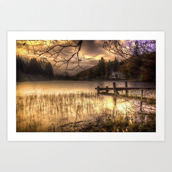 Golden Loch Ard Art Print