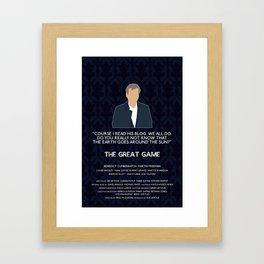 The Great Game - Greg Lestrade Framed Art Print