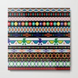 Tribal Beads Metal Print