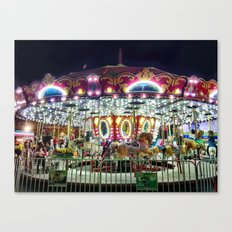 Merry Go Round at Night Canvas Print