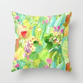 Lush Cacti Jungle Throw Pillow