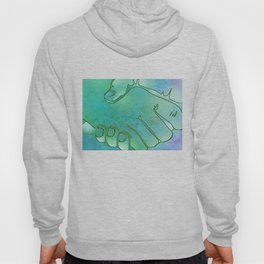 Cargiver Hands Blue and Green Harmony Hoody