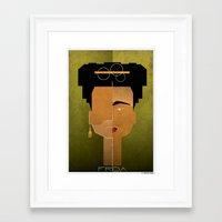 babina Framed Art Prints featuring 020_frida by federico babina