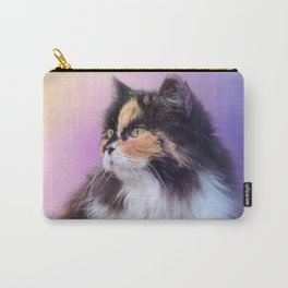Calico Kitty In The Garden Carry-All Pouch