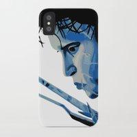 edward scissorhands iPhone & iPod Cases featuring Edward Scissorhands by OnaVonVerdoux