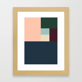 SIX BOXES Framed Art Print