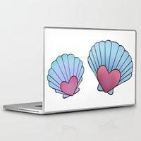 seashell Laptop & iPad Skins featuring Seashell 💗 by Ana Turrubiates
