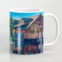cabin Mugs featuring The Cabin by Cwhales Art