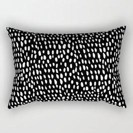 dottie in reverse Rectangular Pillow