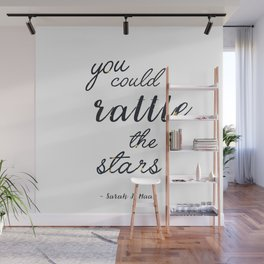 Rattle The Stars - White Wall Mural