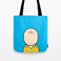 charlie Tote Bags featuring Charlie by Ale Giorgini