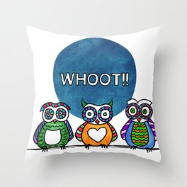 whoot!! Throw Pillow