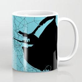 Dublin Ireland Turquoise on Black Street Map Coffee Mug