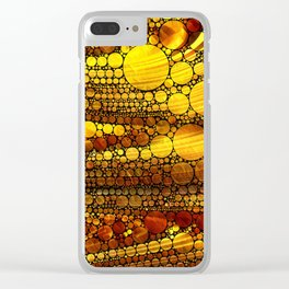 Golden Sun Strata Clear iPhone Case