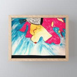 Fallen Angel in Red Dress Framed Mini Art Print