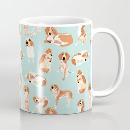 Redtick Coonhound on Light Blue Coffee Mug