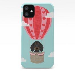 Dachshund doxie dachsie dog breed hot air balloon dog art iPhone Case