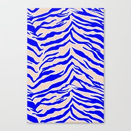 Tiger Print - Cobalt Blue Canvas Print