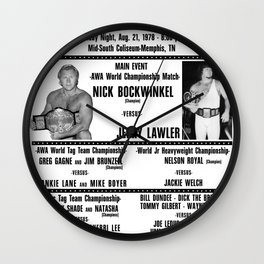 #3 Memphis Wrestling Window Card Wall Clock