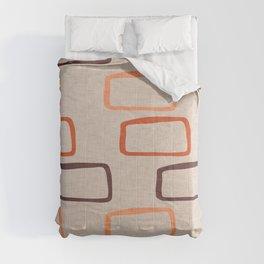 Mod Cube Earth Tone Comforters