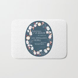 Alice in Wonderland - Six Impossible Things Bath Mat