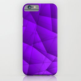 Bright contrasting violet fragments of crystals on triangles of irregular shape. iPhone Case