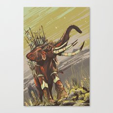 The Elephant Riders Canvas Print