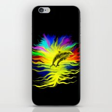 Dolphins in the Sunshine - Fantasy Rainbow-Art iPhone & iPod Skin