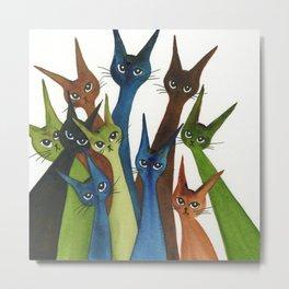Cordoba Whimsical Cats Metal Print